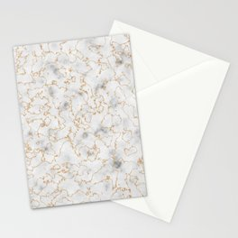 Grey Marble with Gold Stationery Cards
