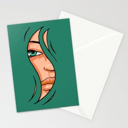 Hairz green Stationery Cards