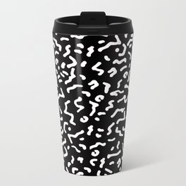 Retro Themed Repeated Pattern Design Metal Travel Mug
