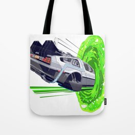 Back to The Future with The Rick Door Portal Tote Bag