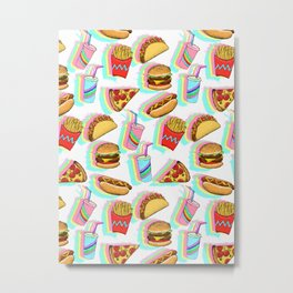 Rainbow Fast Food Metal Print