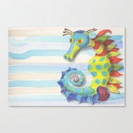 Striated Seahorse Canvas Print