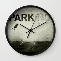 banksy Wall Clocks featuring Banksy Tag by Adam Reynolds