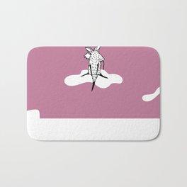 Flying Aardvark by Amanda Jones Bath Mat