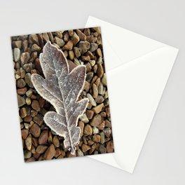 Frozen Leaf Stationery Cards