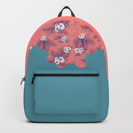 Tropical Fluo Tiles #society6 #decor #buyart Backpack