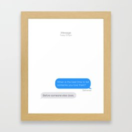 Textual Love. Framed Art Print