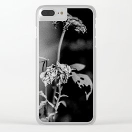 Lovely Dying Flowers Clear iPhone Case
