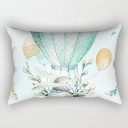 Cute Easter Bunny Hot Balloon Rectangular Pillow