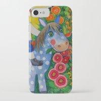 pony iPhone & iPod Cases featuring Pony by oxana zaika