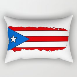 Puerto Rico Map with Puerto Rican Flag Rectangular Pillow