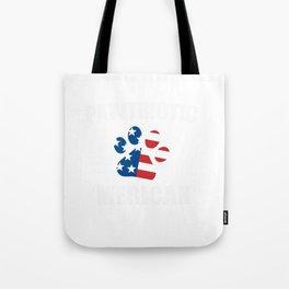 Pawtriotic Merican Dog Cat Paw USA Flag Tote Bag