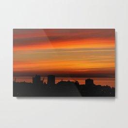 Sunrise in Lisbon Metal Print