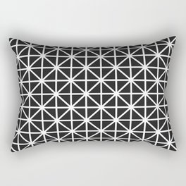 Minimal Black + White Pattern Rectangular Pillow
