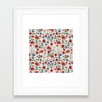 poppies Framed Art Prints featuring Poppies by moniquilla
