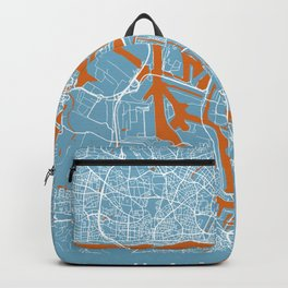 Hamburg Map | Germany | Clound Color | More Colors Backpack