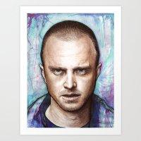 jesse pinkman Art Prints featuring Jesse Pinkman by Olechka