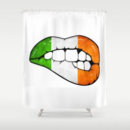 Irish lips Shower Curtain