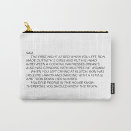 Jersey Shore Letter to Sammi Carry-All Pouch