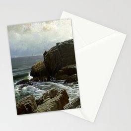 Castle Rock, Marblehead, 1878 by Alfred Thompson Bricher Stationery Cards