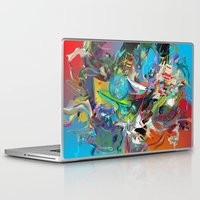 archan nair Laptop & iPad Skins featuring Microcrystalline Tendrils by Archan Nair