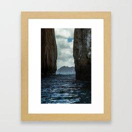 Kicker Rock Galapagos Framed Art Print
