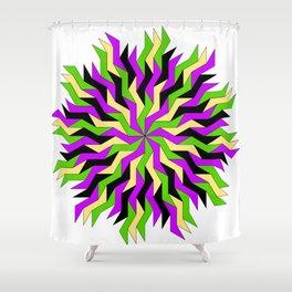 Lightning Wheel Shower Curtain