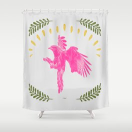 Pink Falcon Shower Curtain