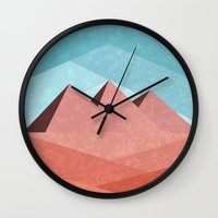 egypt Wall Clocks featuring Egypt by Illusorium