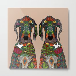 Great Dane love beige Metal Print