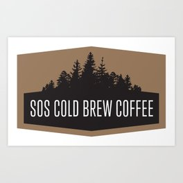 SOS Coldbrew Vintage Advert Art Print