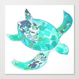 Ocean Blue Sea Turtle Canvas Print