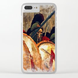 Spartan Army at War Clear iPhone Case