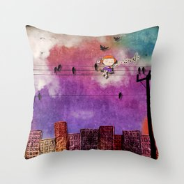 mon coeur s'ouvre a ta voix Throw Pillow