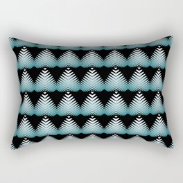 Pattern from sea water of hearts and flowers on a black background. Rectangular Pillow