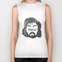 pirlo Biker Tanks featuring Pirlo B&W by wearwolves