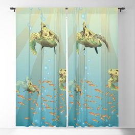 Inspirational Sea Turtle Blackout Curtain
