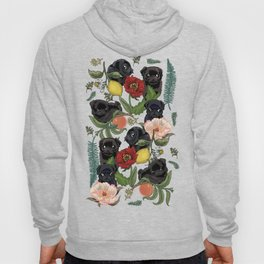 Botanical and Black Pugs Hoody