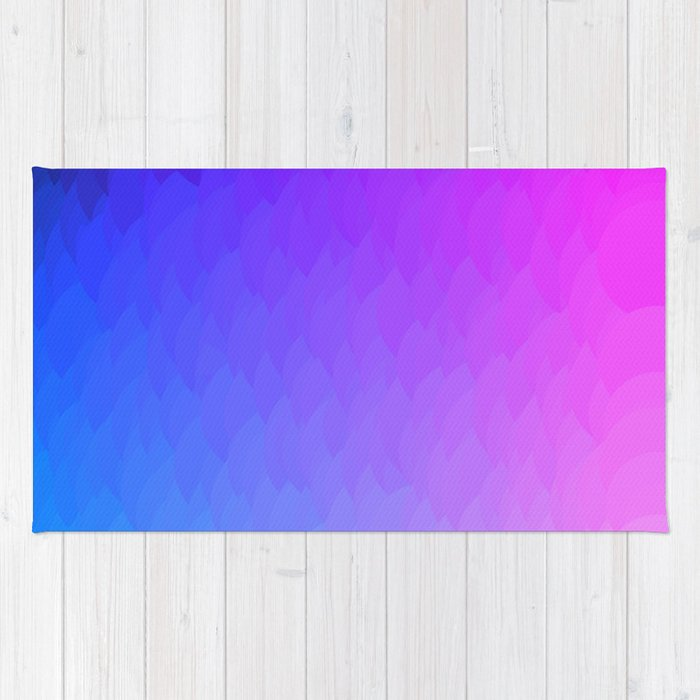 Purple Blue And Pink Ombre Flames Rug