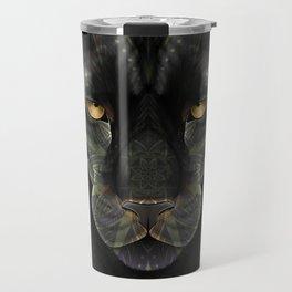 Black Jaguar Mandala Travel Mug