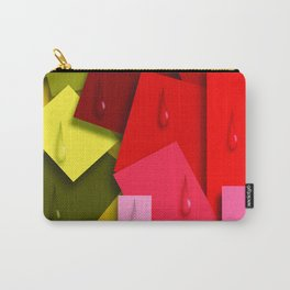 Squares and Tears Carry-All Pouch