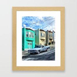 El camino on the slopes Framed Art Print