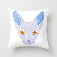 sphynx Throw Pillows featuring Sphynx by H | starhalos
