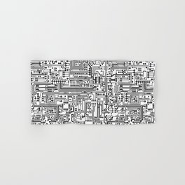 Circuit Board Hand & Bath Towel
