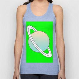 Saturn planet Unisex Tank Top