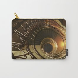 Golden and brown spiral stairs Carry-All Pouch