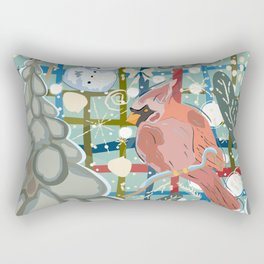 Cardinal in Winter Rectangular Pillow