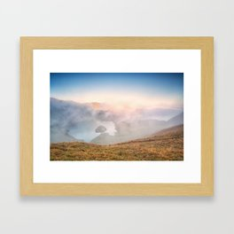 Mountain glory Framed Art Print