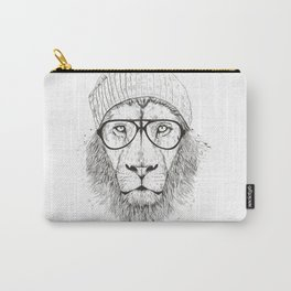 Cool lion (bw) Carry-All Pouch