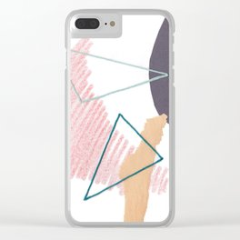 Stitched Abstraction #4 Clear iPhone Case